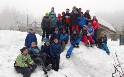 Viel Spaß und Schnee beim Skilanglauflager der 6a auf dem Rabenberg