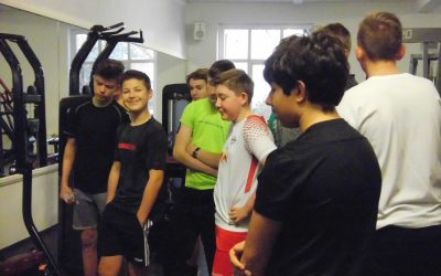 Weihnachtsfeier der Klasse 9c im Fitnessstudio