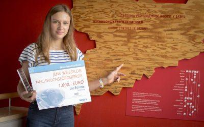 Lia Böhme erhält Jens Weißflog Nachwuchsförderpreis 2020